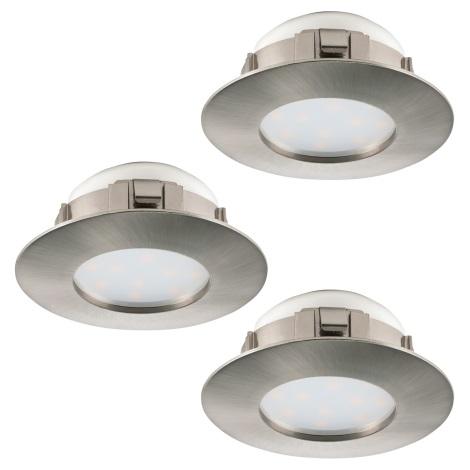Eglo 95823 - SET 3x LED Beépíthető lámpa PINEDA 3xLED/6W/230V