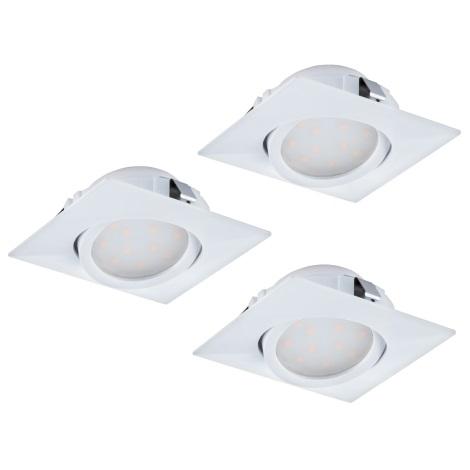 Eglo 95844 - SET 3x LED Beépíthető lámpa PINEDA 3xLED/6W/230V
