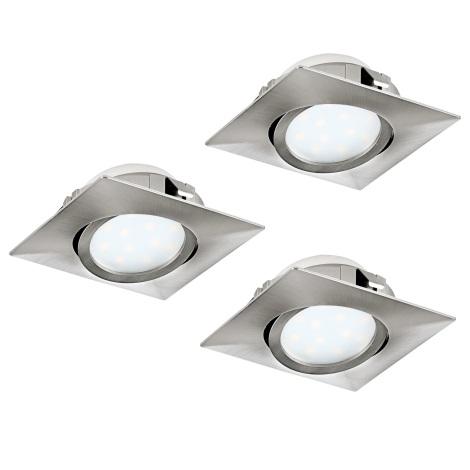 Eglo 95846- SET 3x LED Beépíthető lámpa PINEDA 3xLED/6W/230V