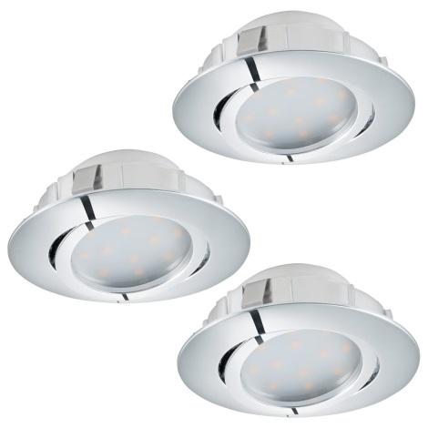 Eglo 95852 - SET 3x LED Beépíthető lámpa PINEDA 3xLED/6W/230V