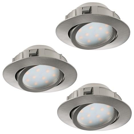 Eglo 95853 - SET 3x LED Beépíthető lámpa PINEDA 3xLED/6W/230V