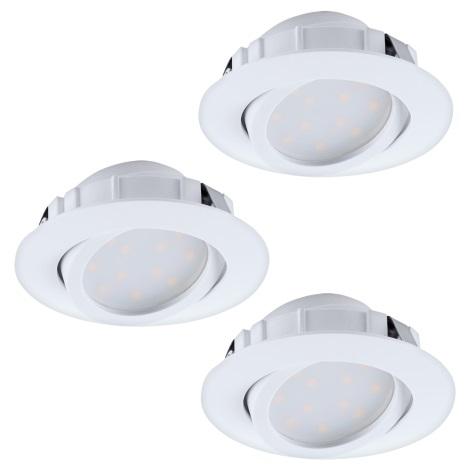 Eglo 95857- SET 3x LED Beépíthető lámpa PINEDA 3xLED/6W/230V