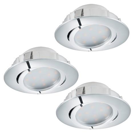 Eglo 95858- SET 3x LED Beépíthető lámpa PINEDA 3xLED/6W/230V
