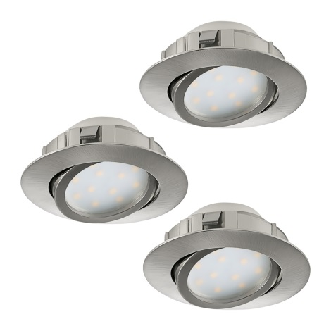 Eglo 95859- SET 3x LED Beépíthető lámpa PINEDA 3xLED/6W/230V