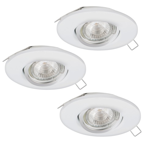 Eglo 95895 - SET 3x LED Beépíthető lámpa PENETO 1 3xGU10-LED/3W/230V