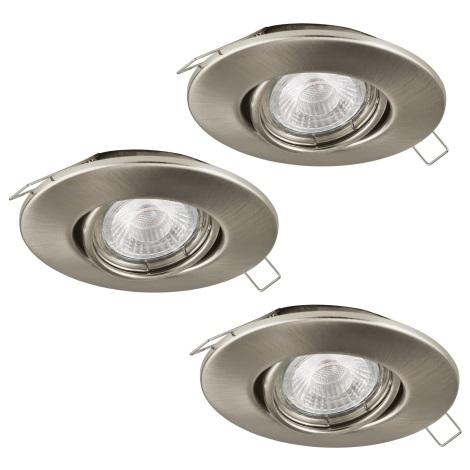 Eglo 95899 - SET 3x LED Beépíthető lámpa PENETO 1 3xGU10-LED/3W/230V