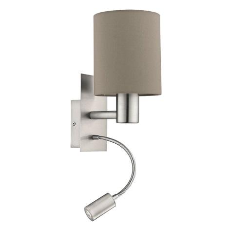 Eglo - LED Fali lámpa 1xE27/40W+LED/3,5W bézs