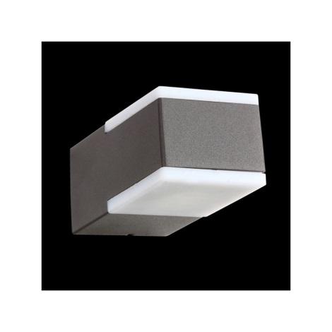 Emithor 63008 - TECRA LED-es kültéri fali lámpa 2xLED/3W sötétszürke IP54