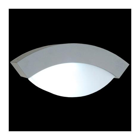 Emithor 70116 - OSLO kültéri fali lámpa 1xE27/14W ezüst IP44