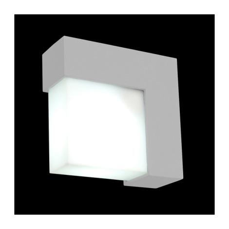 Emithor 70118 - OSLO kültéri fali lámpa 1xE27/14W ezüst IP44