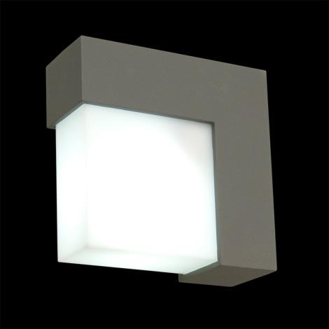 Emithor 70119 - OSLO kültéri fali lámpa 1xE27/14W szürke IP44