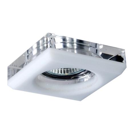 Emithor 71010 - Beépíthető lámpa 1xGU10/50W átlátszó/fehér kristály
