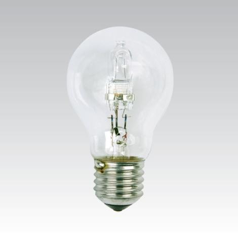 Energiatakarékos halogén izzó E27/28W átlátszó