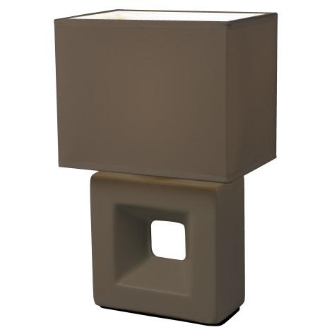 Esto 21101 - Asztali lámpa  ERICA 1xE14/25W/230V barna