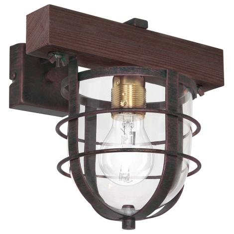 Fali lámpa  ANDER 1xE27/60W/230V sötét barna