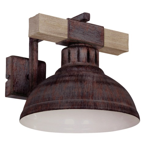Fali lámpa HAKON 1xE27/60W/230V patina