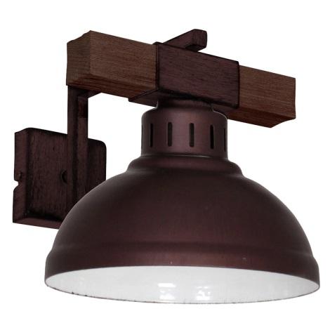 Fali lámpa HAKON 1xE27/60W/230V sötét