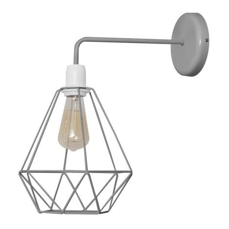 Fali lámpa KARO 1xE27/60W/230V szürke