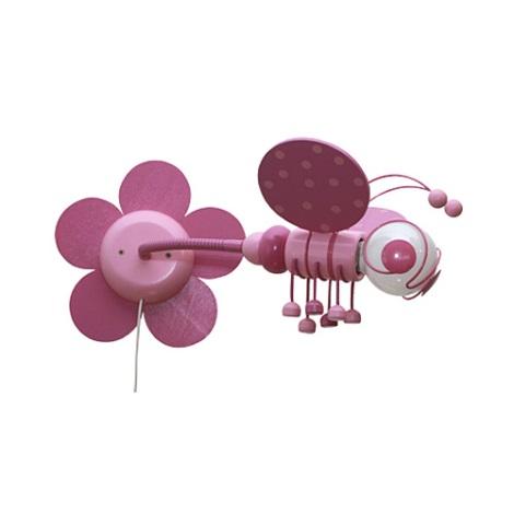 Fali lámpa Méhecske 1xE27/60W/230V rózsaszín