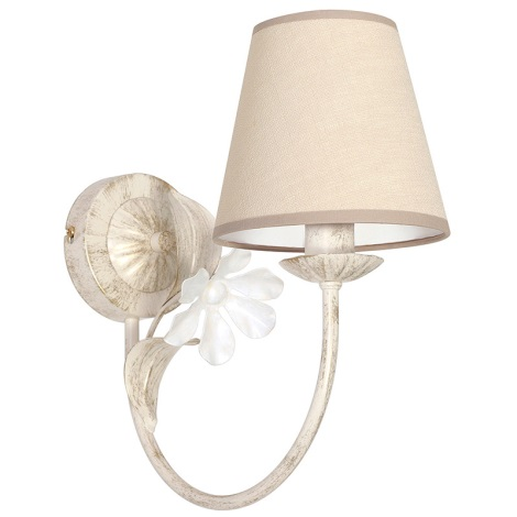 Fali lámpa NATALIA 1xE14/60W/230V krém színű