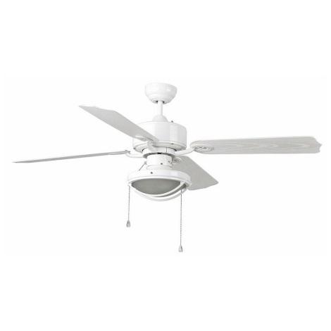 FARO 33357 - Mennyezeti ventilátor HIERRO 2xE27/60W/230V IP44 fehér