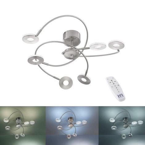 Fischer & Honsel 20532 - LED Szabályozható spotlámpa DENT 4xLED/6W/230V + távirányító