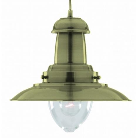 FISHERMAN 1 XL függeszték, antik bronz 1xE27/60W