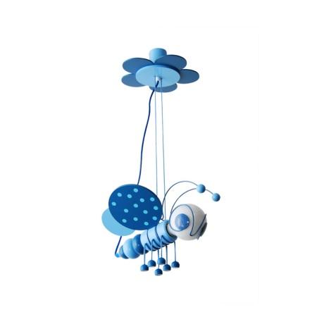 Függesztékes  csillár MÉHECSKE 1xE27/60W/230V kék