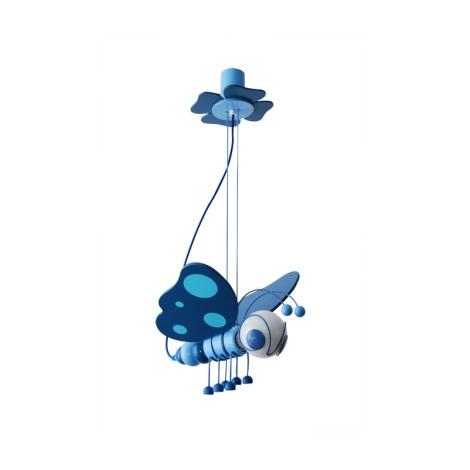 Függesztékes csillár PILLANGÓ kék