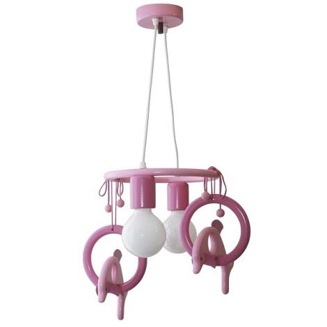 Függó csillár DELFIN  lila/pink