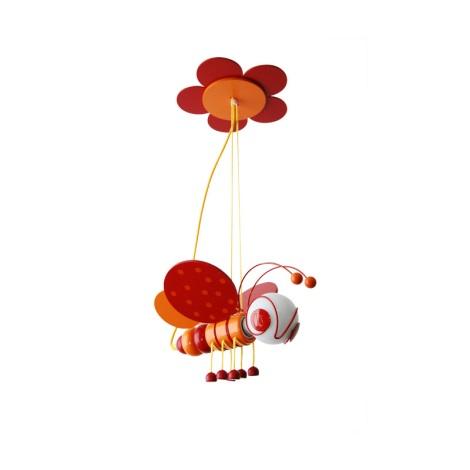 Függó csillár MÉHECSKE 1xE27/60W/230V piros/narancssárga