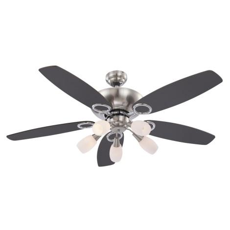 GLOBO 0337 -Mennyezeti ventilátor JERRY 5xE14/40W/230V