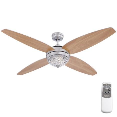 GLOBO 0342 - AZALEA mennyezeti ventilátoros lámpa 3xG9/33W
