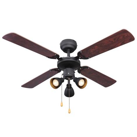 Globo 03808 - Mennyezeti ventilátor HARVEY 3xGU10/50W/230V