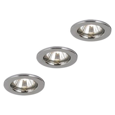GLOBO 12101-3 - Készlet 3 mennyezeti lámpa DOWN LIGHTS 1xGU10/50W/230V