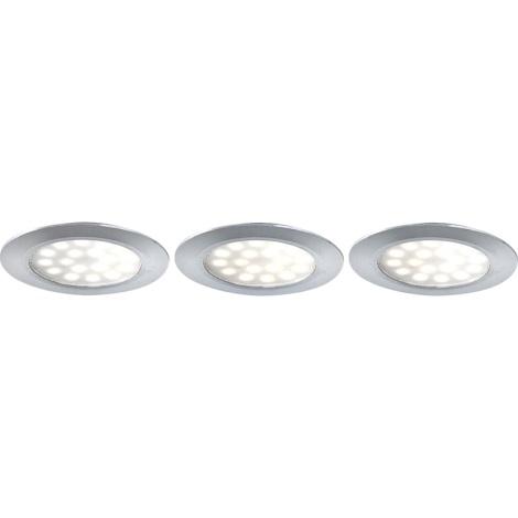 GLOBO 12314-3 - beépíthető LED-es spotlámpa 3 db-os szett 3xLED/3,6W/9,2V