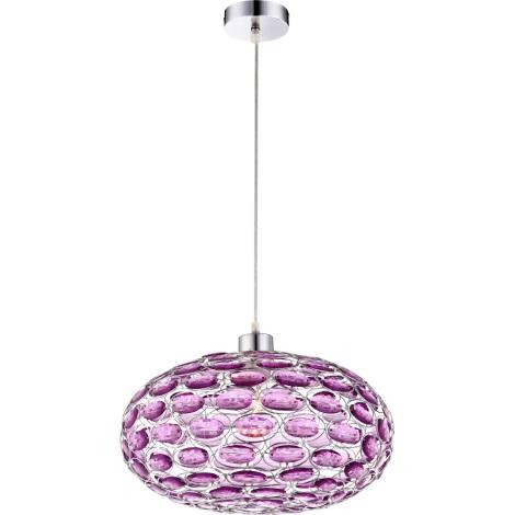 GLOBO 16037 - MEGI függeszték 1xE27/60W rózsaszín