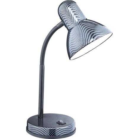 GLOBO 24893 - CARBON asztali lámpa 1xE27/60W