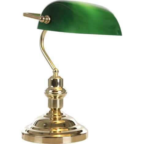 GLOBO 2491 - ANTIQUE asztali lámpa 1xE27/60W zöld