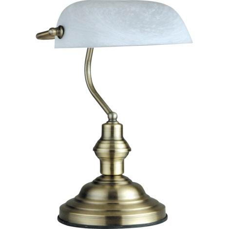GLOBO 2492 - ANTIQUE asztali lámpa 1xE27/60W fehér