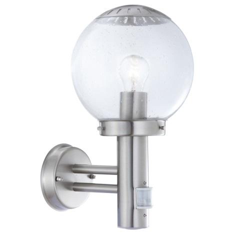 GLOBO 3180S - Kültéri fali  lámpa érzékelővel Bowl II 1xE27/60W/230V