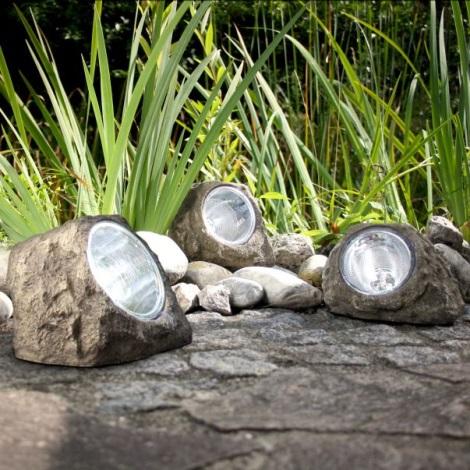 Globo 3302 - Dekoratív Szolár LED lámpa KŐ 4xLED/0,06W/3,2V