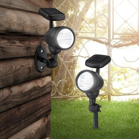 Globo 33026 - LED napelemes lámpa 3xLED/0,06W