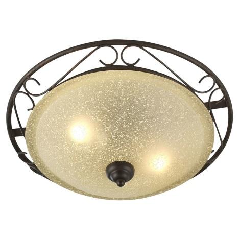GLOBO 4413-2 - RUSTICA II mennyezeti lámpa 2xE27/60W