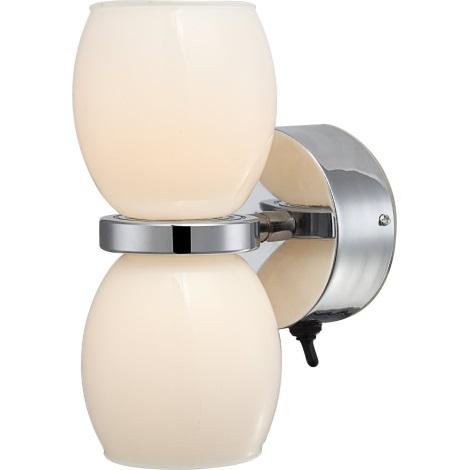 GLOBO 44200-2W - Fali fürdőszoba  LED lámpa DANO 2xLED/3W/230V