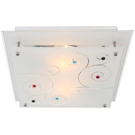 GLOBO 48140-2 - Mennyezeti lámpa DL CHROM 2xE27/40W/230V
