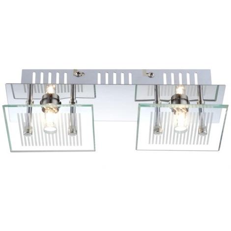 GLOBO 49201-2 - Mennyezeti lámpa GILMA 2xG9/33W/230V