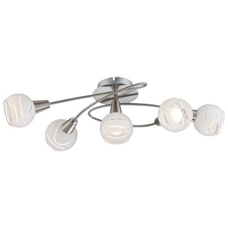 Globo 54341-5 - LED mennyezeti lámpa ELLIOTT 5xE14/4W/230V