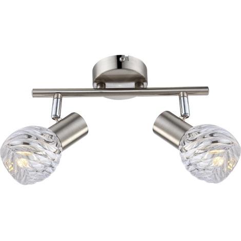 GLOBO 54344-2 - Spot LED-es lámpa Boronia 2xE14/4W/230V