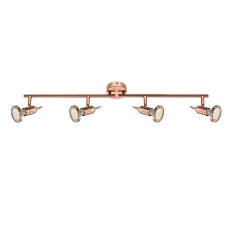 GLOBO 54383-4 - LED spotlámpa COPPER 4xLED/3W/230V